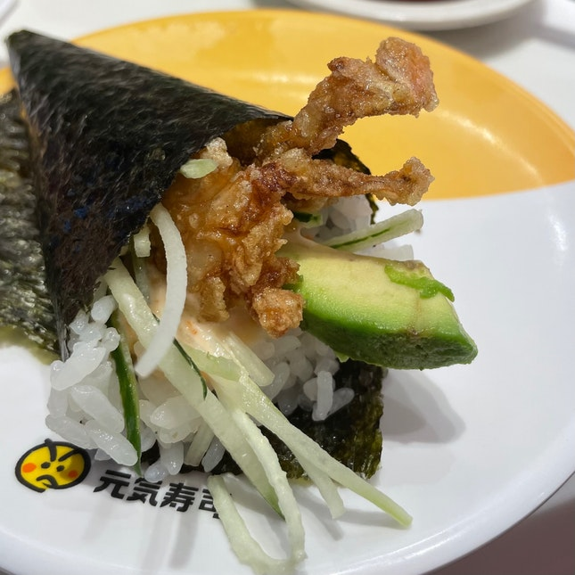 Soft Shell Crab Handroll ($3.80)