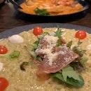 risotto di caprese and risotto marinara