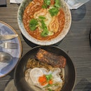 Chilli Crab Risotto and Seabass Pasta With Nori Cream
