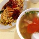 Roast duck noodles & salted vegetables duck soup.