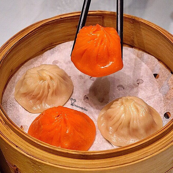 Xiao long baos in our country's colours!