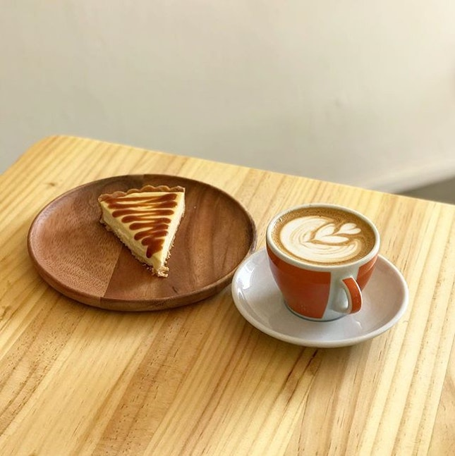 Miso Cheese Tart -$6, White Coffee -$5  Checking out the new Prodigal Cafe at Mcpherson.