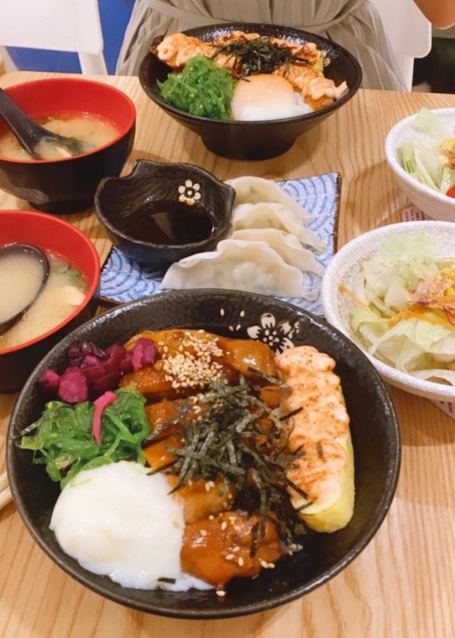 Salmon And Teriyaki Don