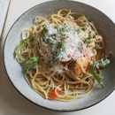 Prawn&Crab Aglio Pasta