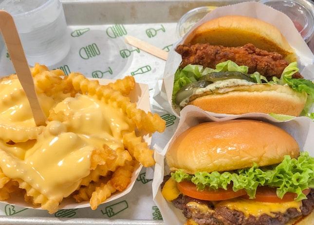 Shack Burger + Cheese Fries
