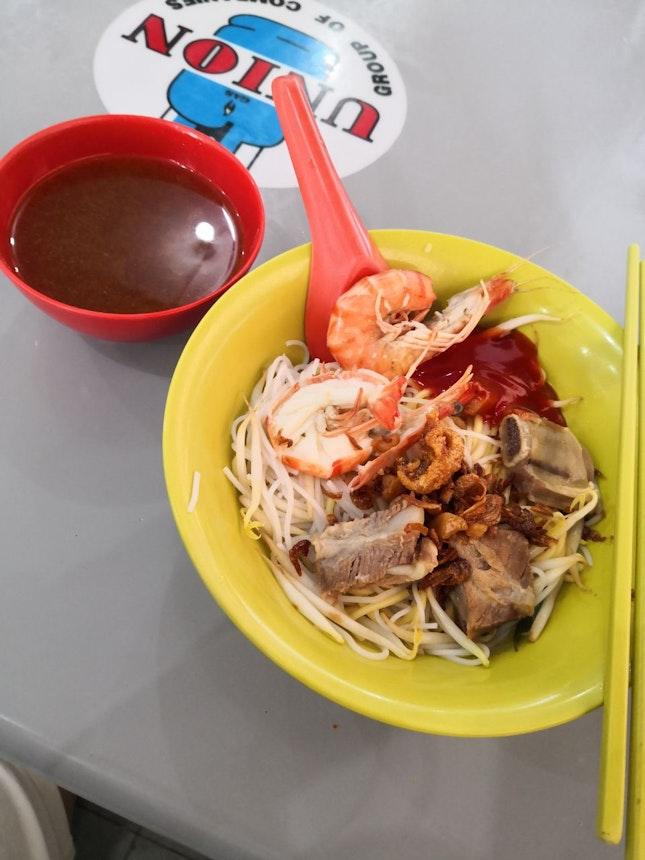 Prawn and Pork Ribs Noodles