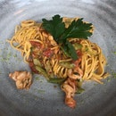 Homemade Tagliolini with Prawns, Lemon and Aromatic Breadcrumbs