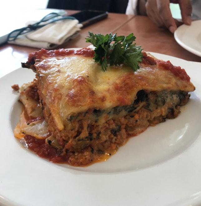 Spinach and Soya Granules Lasagna