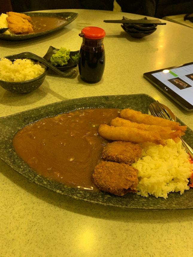 Tempura & Chicken Curry Rice Don (1-1)