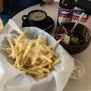 Ribeye Steak, Pork Ribs, Truffle Fries, Truffle Mushroom Soup