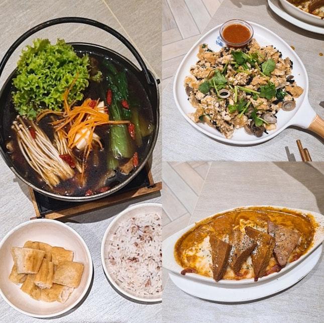 Hotpot, Otah Cheese Baked Rice And Vegan Orh Luak