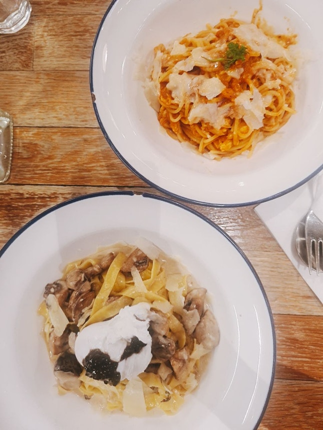 1 For 1 Pasta Truffle Carbonara And Pomododo Crab