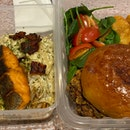 Chicken Burger & Carbonara