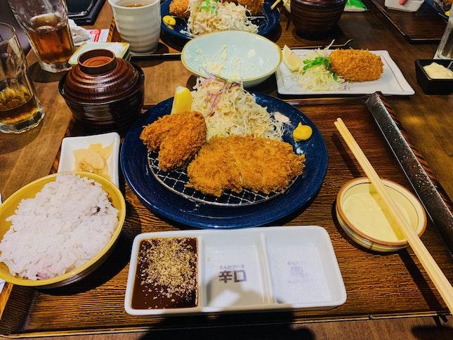 Oyster And Rosu Tonkatsu Set