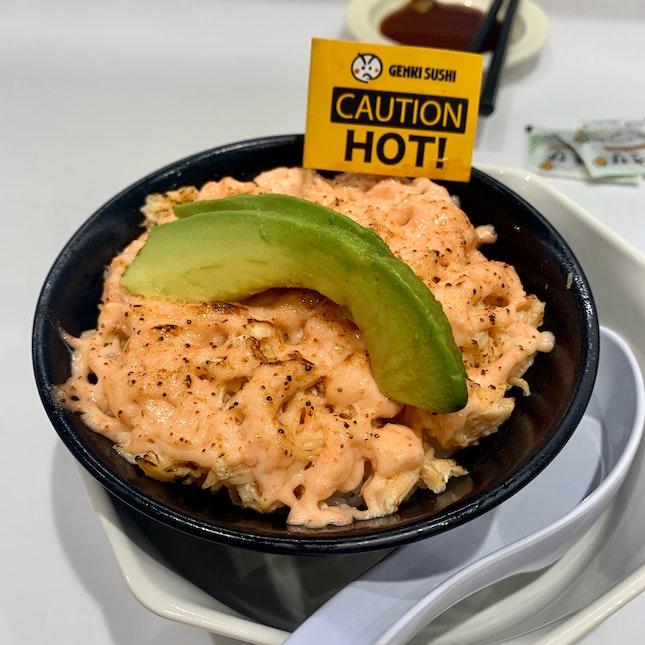 salmon mentaiko avocado bowl ($6++)