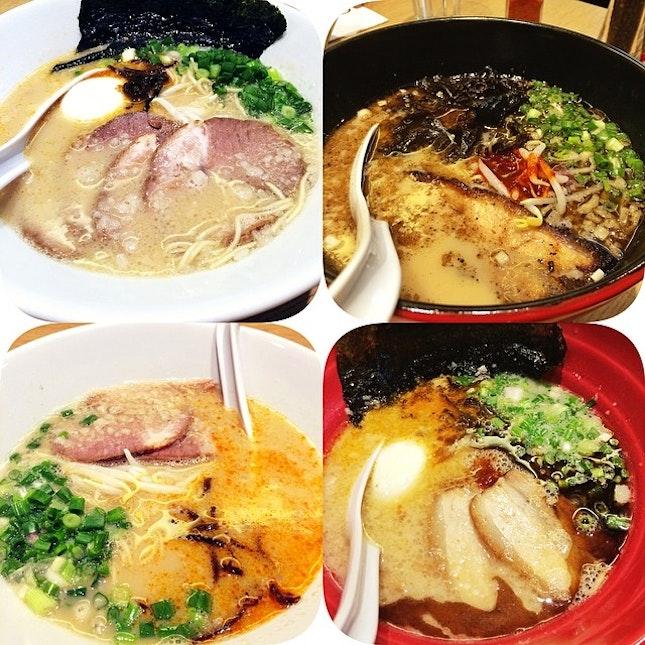 4 Kinds of Ramen #japanese #ramen #pork #food #instafood