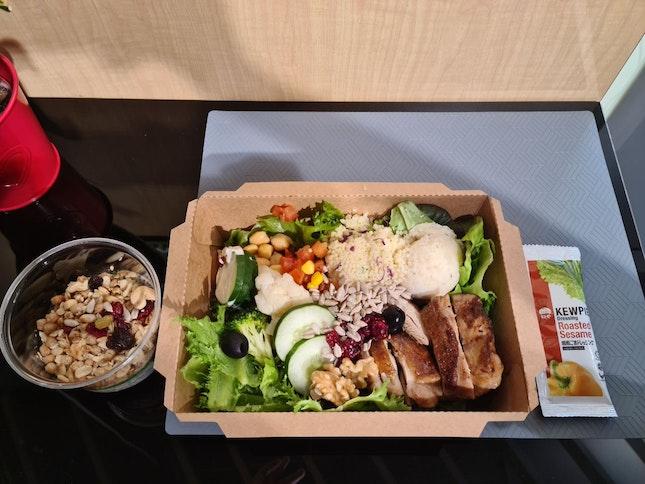 Chicken Salad And Dessert Set