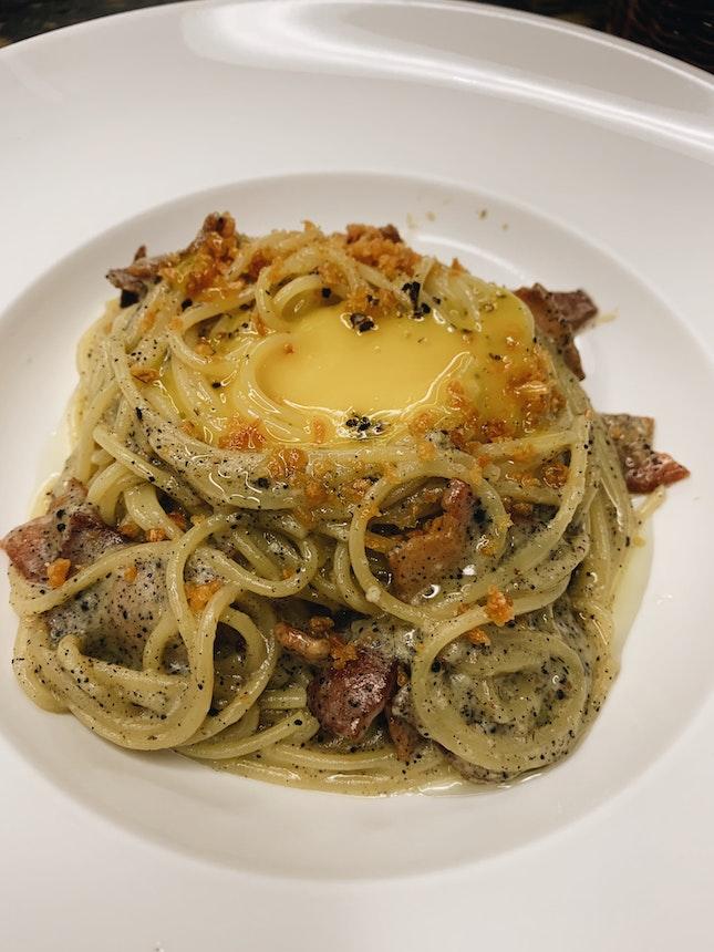 Garlic Truffle Carbonara