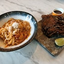 Slipper lobster pasta & St Louis Ribs