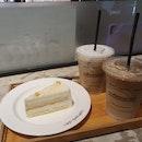 Iced Cafe Latte + Cappucino +Yuzu Cake