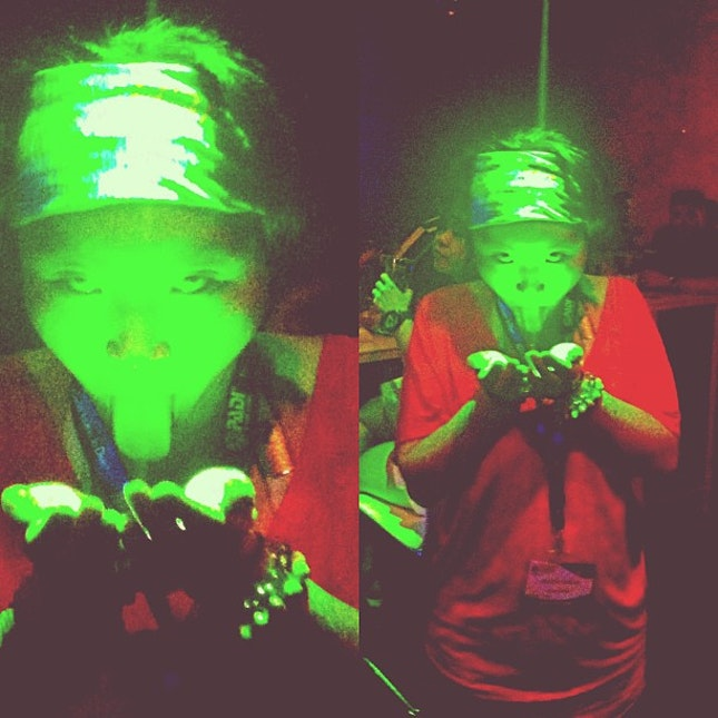 #MIDE #2013 #dinner #scuba #expo — #friend #crazy #chic #chill #fun #time #moment #cute #miow #green #lights