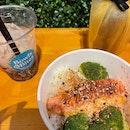 Mentaiko salmon bowl