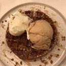 ice cream & waffles