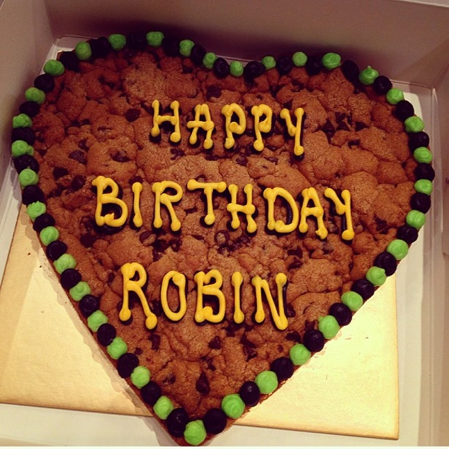 Cookie Cake From Famous Amos For Robins Birthday