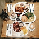 (Media & Food tasting: The Rotisserie Singapore at Suntec City) On the table: Half Roasted Chicken, Pork Knuckles and Black Angus Burger!