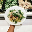 (Media & Food Tasting: The Rotisserie Singapore) On the table: Roasted Chicken Penne Pasta!