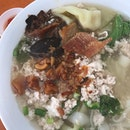 Kway Teow Soup with xtra gem.
