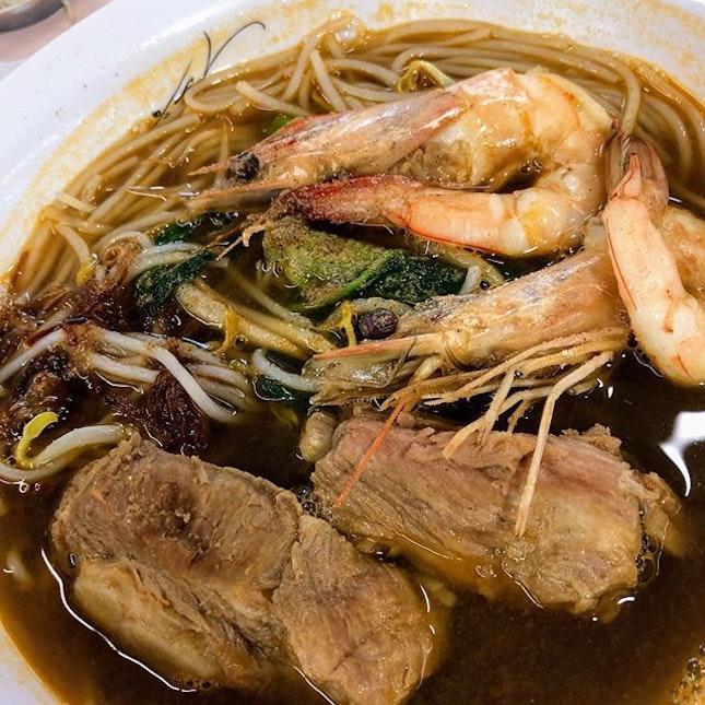 This Prawn and Pork Rib Noodle from Khoon Kee Tasty Prawn Mee.