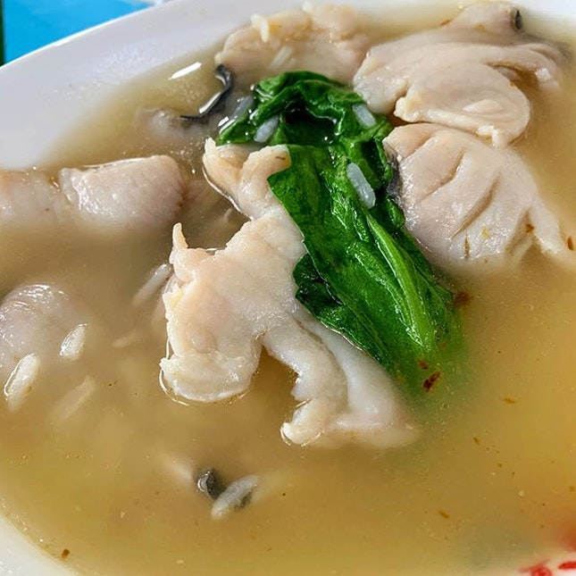 Simple Fish Porridge to fill the stomach.
