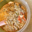 SAH breakfast is Terry Katong Laksa.