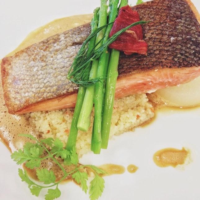 Salmon Fillet With Braised Daikon And Bouillabaisse Sauce