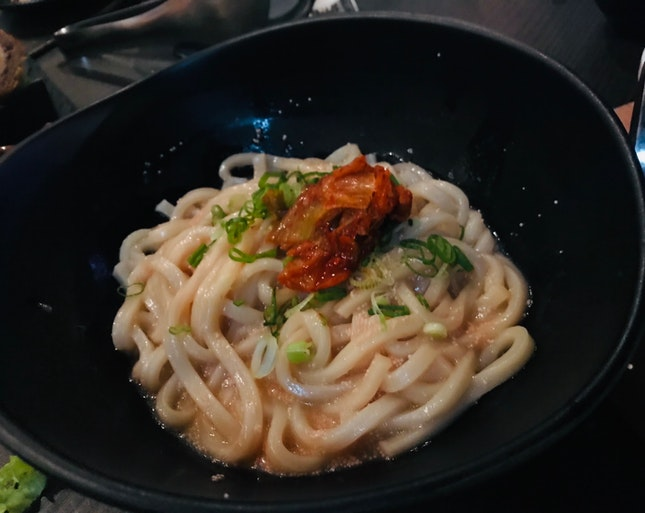 Mentaiko Udon With Kimchi