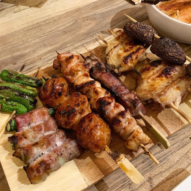Skewers, Sake-cooked Oyster