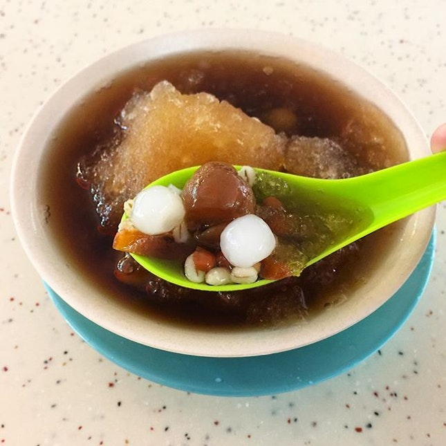Iced Cheng Tng  _ A local dessert with lots of hidden gems beneath the shaved ice.