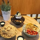 [Invited Tasting] Nunsaram Korean Dessert Cafe @nunsaram_cafe  _ Bingsoo & Hotteok are the specialities and a must order when you visit a Korean Dessert Cafe _ At @nunsaram_cafe it is a Bingsoo galore.