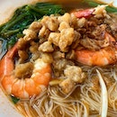 Prawn noodle  _ There are many prawn noodle eateries in SG, and everyone has their favourite.