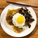Tung Hoon with Black Fungus and runny Egg  _ Egg yolk did run.