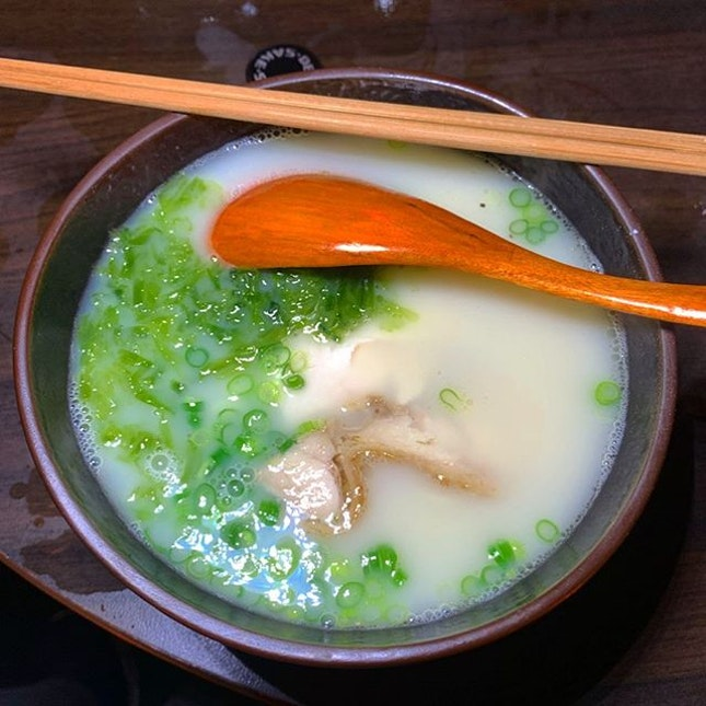 Ramen in Chicken broth _ Never had such good, hot ramen in thick, creamy, juicy and flavourful chicken broth.