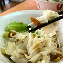 Dry Flat Rice Noodle _ Plain, with soya and lard.