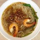 Prawn noodles.