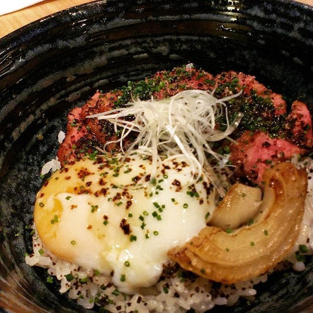Wagyu Don with soft boiled egg #japanesefood #don #wagyu #beef #burpple