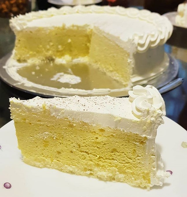 Durian cake (S-$52) from Jane's Cake Station.