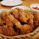 Korean boneless fried chicken ($15.90++) Going head to head with bonchon next door, this Korean store is pricier but probably more authentic and wins in taste.