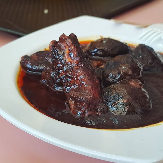 Pork ribs with buah keluak ($12).