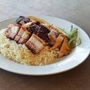 Chicken Rice With Roast Pork