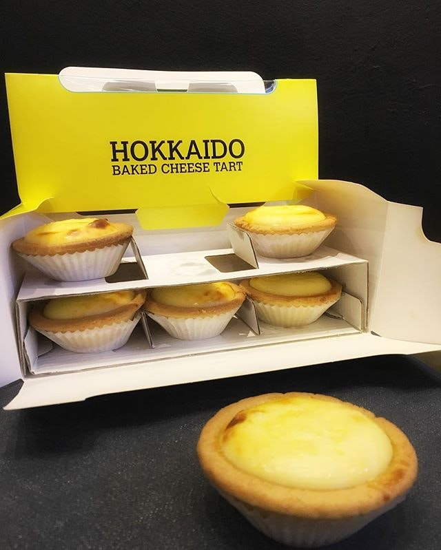 Yummy Hokkaido Baked Cheese Tarts from Jurong Point, not to be confused with the ones from Bake.